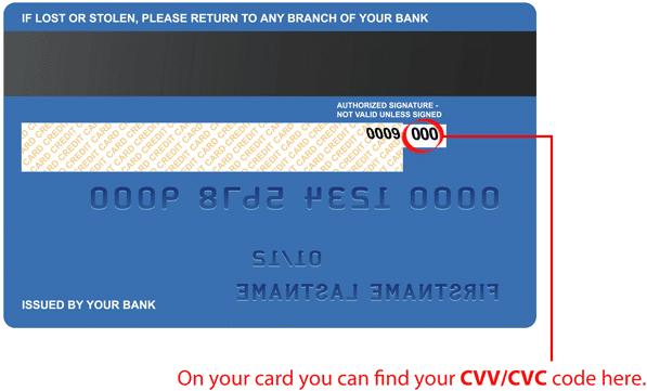 CVV number