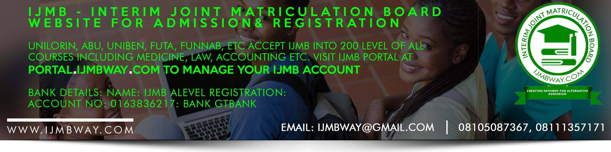 IJMB – Official IJMB Website, IJMB Registration Portal & Admission